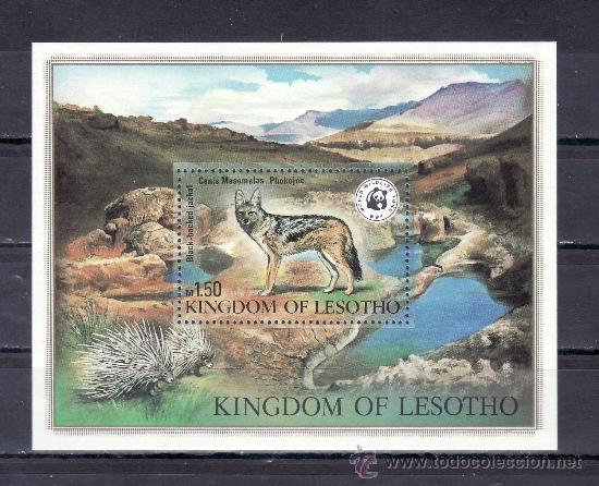 LESOTHO HB 12 SIN CHARNELA, FAUNA, PROTECCION DE LA VIDA SALVAJE (Sellos - Extranjero - África - Otros paises)