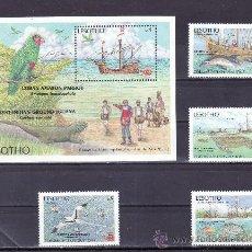 Sellos: LESOTHO 746/9, HB 50 SIN CHARNELA, FAUNA, BARCO, CARABELAS, V CENTº DESCUBRIMIENTO DE AMERICA. Lote 24897325