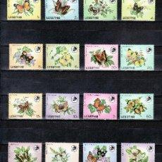Stamps - lesotho 561/76 sin charnela, fauna, flores, mariposas, - 24897423