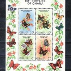 Sellos: GHANA HB 93 SIN CHARNELA, FAUNA, MARIPOSAS, . Lote 25221021