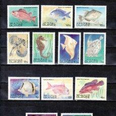Sellos: GUINEA 659/70 SIN CHARNELA, FAUNA MARINA, PECES DEL GOLFO DE GUINEA. Lote 25096063