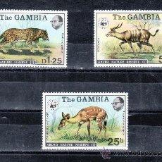 Stamps - gambia 331/3 sin charnela, fauna, wwf, - 25419773