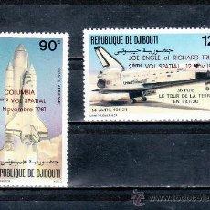 Stamps - djibouti a 157/8 sin charnela, conquista del espacio, sobrecargado - 25487497