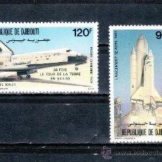 Briefmarken - djibouti a 155/6 sin charnela, conquista del espacio, traslados espacial - 25487535