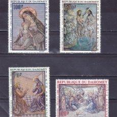 Briefmarken - dahomey a 93/6 sin charnela, pintura religiosa de foujita - 25538064