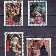 Stamps - dahomey a 67/70 sin charnela, pintura religiosa - 25538078