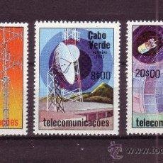 Timbres: CABO VERDE 448/50** - AÑO 1981 - TELECOMUNICACIONES. Lote 212569820