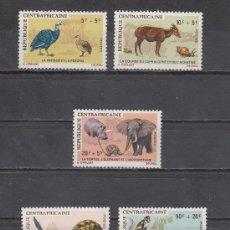 Sellos: CENTROAFRICANA 134/8 SIN CHARNELA, FAUNA, CUENTOS AFRICANOS, . Lote 26004127