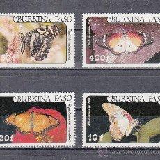 Sellos: BURKINA FASO A 272/5 SIN CHARNELA, FAUNA, MARIPOSAS, . Lote 26354608