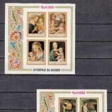 Sellos: BURUNDI HB 27/8 SIN DENTAR SIN CHARNELA, NAVIDAD, PINTURA, . Lote 26375186