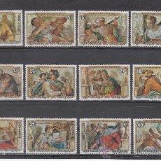 Sellos: BURUNDI 669/74, A 408/13 SIN CHARNELA, NAVIDAD, PINTURA, V CENTENARIO NACIMIENTO DE MIGUEL ANGEL, . Lote 26375362