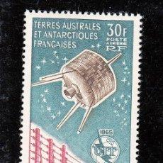 Sellos: TIERRAS AUSTRALES Y ANTARTICAS FRANCESAS A 9 SIN CHARNELA, SATELITE, CENTENARIO U.I.T.. Lote 27241953