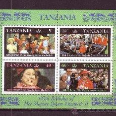 Sellos: TANZANIA HB 52*** - AÑO 1987 - 60º ANIVERSARIO DE LA REINA ELIZABETH II. Lote 28369878