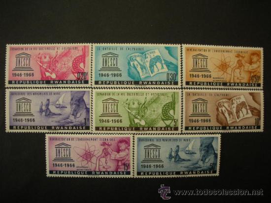 RWANDA 1966 IVERT 183/90 *** 20º ANIVERSARIO DE LA UNESCO - MONUMENTOS (Sellos - Extranjero - África - Otros paises)