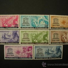 Sellos: RWANDA 1966 IVERT 183/90 *** 20º ANIVERSARIO DE LA UNESCO - MONUMENTOS. Lote 31958958