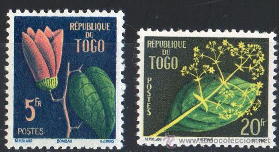 TOGO AÑO 1959 YV 276/77*** FLORES - FLORA - NATURALEZA (Sellos - Extranjero - África - Otros paises)