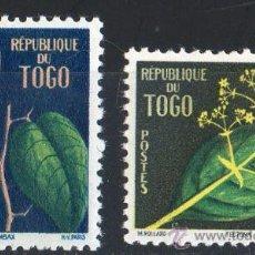 Sellos: TOGO AÑO 1959 YV 276/77*** FLORES - FLORA - NATURALEZA. Lote 32085264