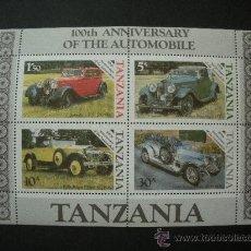Sellos: TANZANIA 1986 HB IVERT 42 *** CENTENARIO DEL AUTOMOVIL ROLLS ROYCE - COCHES ANTIGUOS. Lote 34374853