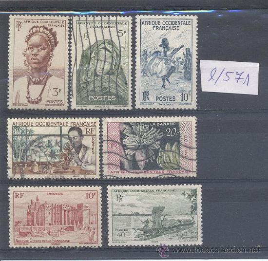 AFRICA OCCIDENTAL FRANCESA, LOTE DE SELLOS (Sellos - Extranjero - África - Otros paises)