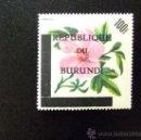 Sellos: BURUNDI REPUBLICA 1967 FLORES YVERT 212 MNH. Lote 34681775