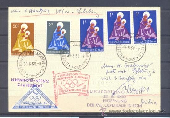 1960.- CONGO BELGA A AUSTRIA (Sellos - Extranjero - África - Otros paises)