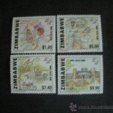 Sellos: ZIMBABWE 1999 IVERT 399/402 *** 125º ANIVERSARIO DE LA UNIÓN POSTAL UNIVERSAL U.P.U.. Lote 36323805