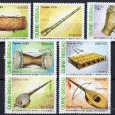 Sellos: GUINEA BISSAU AÑO 1989 YV 500/06*** INSTRUMENTOS MUSICALES - MÚSICA - ARTE. Lote 37876635