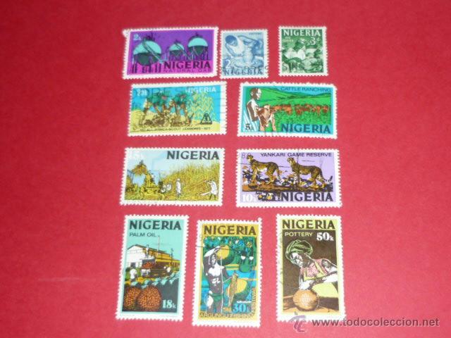 LOTE DE 10 SELLOS DE NIGERIA (Sellos - Extranjero - África - Otros paises)