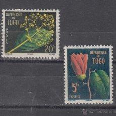 Sellos: TOGO 276/7 CON CHARNELA, FLORES, . Lote 43391787