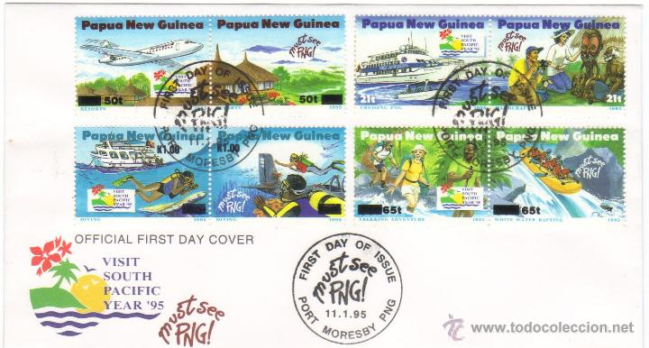 SOBRE PRIMER DIA PAPUA NUEVA GUINEA PRECIOSO 1995 (Sellos - Extranjero - África - Otros paises)