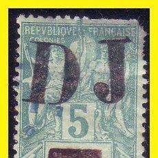 Sellos: COSTA DE SOMALÍS 1894 IVERT Nº 1 (O) RARO. Lote 44303857