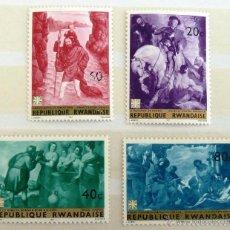Sellos: SELLOS RUANDA 1967. PINTURAS. NUEVOS.. Lote 47298827