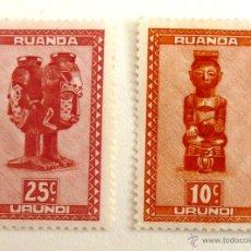 Sellos: SELLOS RUANDA 1948. MASCARAS. NUEVOS.. Lote 47484068