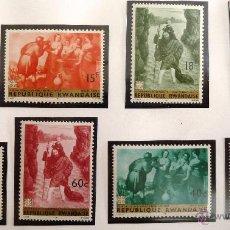 Sellos: SELLOS RUANDA 1967. PINTURAS. NUEVOS.. Lote 47772212
