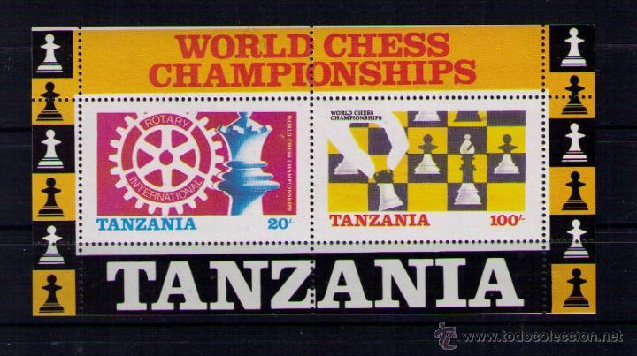 TANZANIA 1986 - AJEDREZ CHESS ECHECS - YVERT HOJITA BLOQUE Nº 44 (Sellos - Extranjero - África - Otros paises)