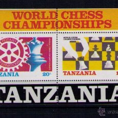 Sellos: TANZANIA 1986 - AJEDREZ CHESS ECHECS - YVERT HOJITA BLOQUE Nº 44. Lote 47822758
