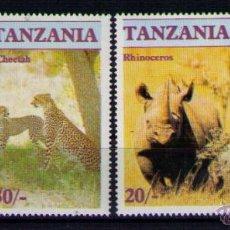 Sellos: TANZANIA 1986 - FAUNA SALVAJE - YVERT Nº 285-288. Lote 47829760