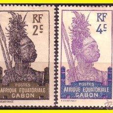 Stamps - GABÓN 1910 IVERT nº 33 a 36 * - 49337477