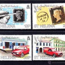 Sellos: SANTA HELENA 521/24** - AÑO 1990 - EXPOSICIÓN FILATÉLICA INTERNACIONAL LONDON 90 - AUTOMOVILES. Lote 49551947
