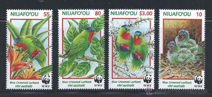 TONGA NIUAFO OU 1998 SERIE COMPLETA WWF FAUNA FLORA NATURALEZA NUEVO LUJO MNH *** SC (Sellos - Extranjero - África - Otros paises)