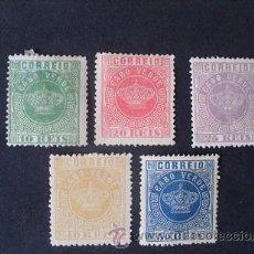 Timbres: CABO VERDE,PORTUGAL,1881-1885,AFINSA,YVERT Y SCOTT 10-14,COMPLETA,NUEVOS SIN GOMA Y USADO. Lote 197817590