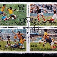 Sellos: S.TOMÉ E PRÍNCIPE. 1978.. SERIE. BLOQUE. MUNDIAL ARGENTINA 78' *.MH. Lote 52650100