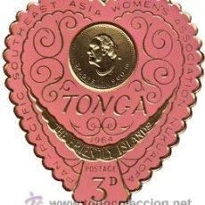 Stamps - TONGA 1964 MUY BONITO SELLO CON FORMA DE CORAZON NUEVO LUJO MNH *** - 53065737
