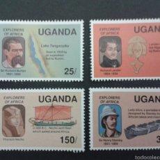 Sellos: SELLOS DE UGANDA. YVERT 640/3. SERIE COMPLETA NUEVA SIN CHARNELA.. Lote 53243923