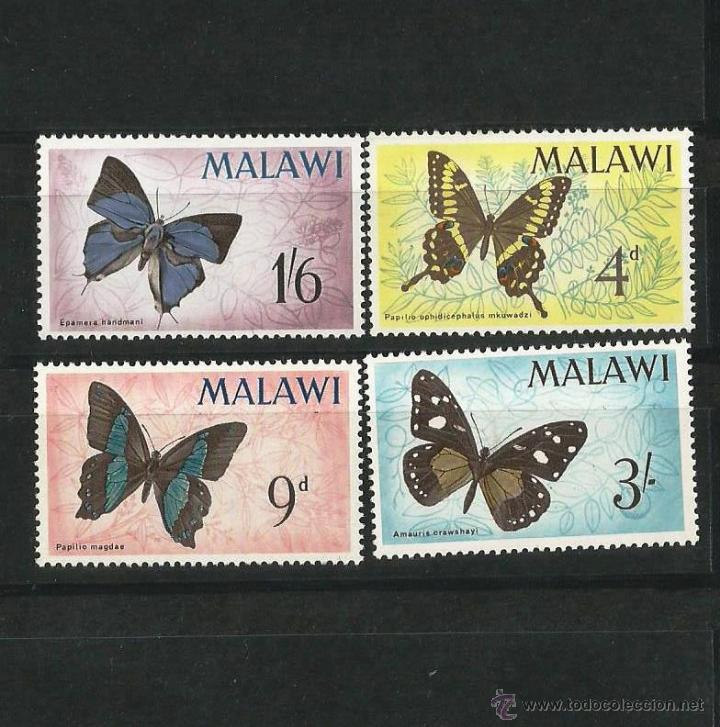 MALAWI 1966 MARIPOSAS NUEVOS SIN CHARNELA (Sellos - Extranjero - África - Otros paises)