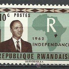 Stamps - Ruanda - 1962 - Michel 1 // Scott 1**MNH - 54347715