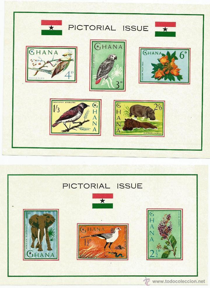GHANA 1965 2 HOJAS BLOQUE (Sellos - Extranjero - África - Otros paises)