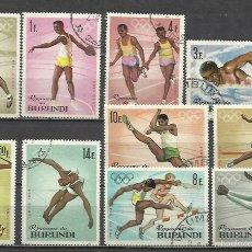 Sellos: 7494-SERIE COMPLETA BURUNDI AFRICA AÑO 1964 Nº102/11.OLIMPIADAS TOKIO.DEPORTES,SPORT.. Lote 55131160