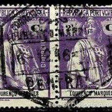 Timbres: LOURENÇO MARQUES [COLONIA PORTUGUESA] 1914- YV 122 AFI 122 (PAR UNIDO). Lote 56047992