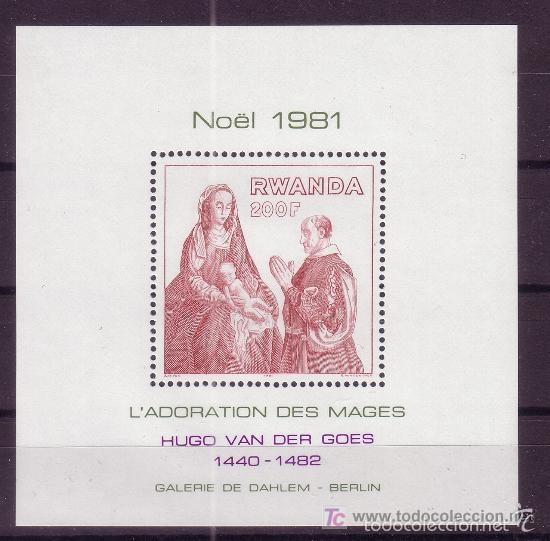 RWANDA 1981 HB IVERT 92 *** NAVIDAD - PINTURA - HUGO VAN DER GOES (Sellos - Extranjero - África - Otros paises)